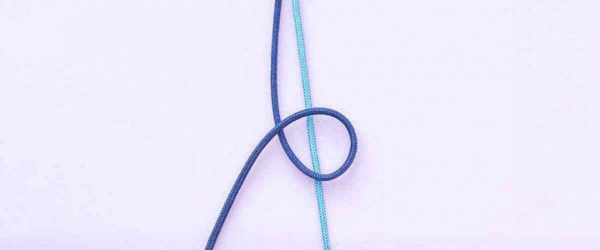 Paso 1 con el entrelazado de cordones