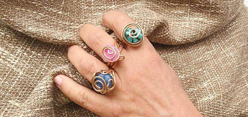 anillos con alambre