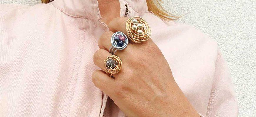 anillos hechos con alambre